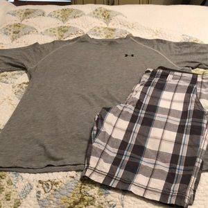 "Men   ""No Boundaries""  plaid shorts size 38~EUC"